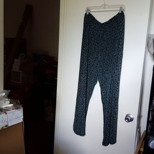 Coldwater Creek Travel Knit Pants Sz 3X Green